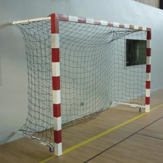 Par de porterías de balonmano de competición de aluminio plegables en la pared de 0,90 a 1,40 m Sporti France