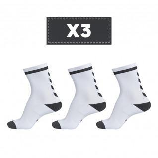 Juego de 3 pares de calcetines de color claro Hummel Elite Indoor Low