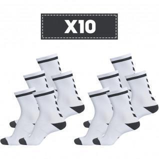 Paquete de 10 pares de calcetines transparentes Hummel Elite Indoor Low