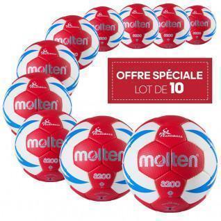 Paquete de 10 pelotas de entrenamiento Molten HX3200 FFHB
