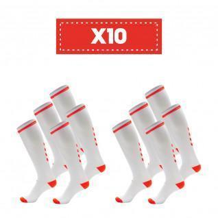 Paquete de 10 pares de calcetines transparentes Hummel Elite Indoor high