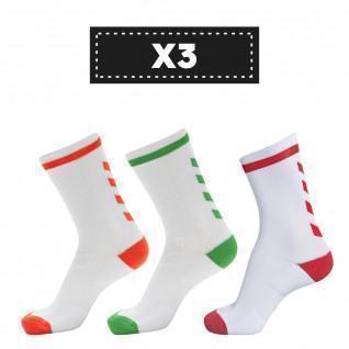 Juego de 3 pares de calcetines de color claro Hummel Elite Indoor Low (coloris au choix)