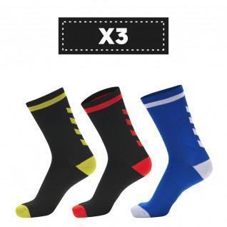 Juego de 3 pares de calcetines oscuros Hummel Elite Indoor Low (coloris au choix)