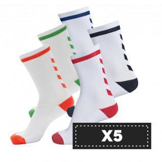 Paquete de 5 pares de calcetines de color claro Hummel Elite Indoor Low (coloris au choix)