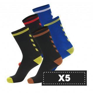 Paquete de 5 pares de calcetines oscuros Hummel Elite Indoor Low (coloris au choix)