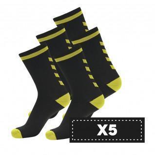 Paquete de 5 pares de calcetines oscuros Hummel Elite Indoor Low