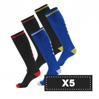 Paquete de 5 pares de calcetines oscuros Hummel Elite Indoor high (coloris au choix)
