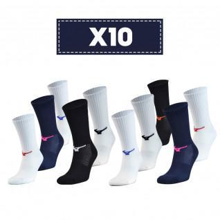 Paquete de 10 calcetines Mizuno Multisports