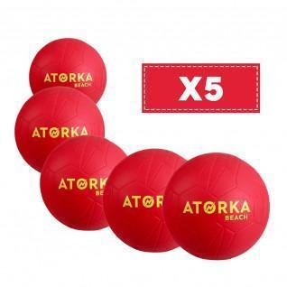 Juego de 5 balones de playa Atorka HB500B