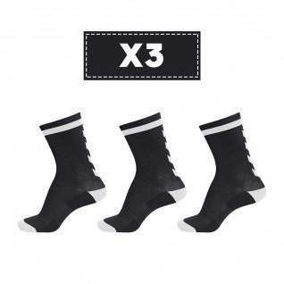 Juego de 3 pares de calcetines oscuros Hummel Elite Indoor Low