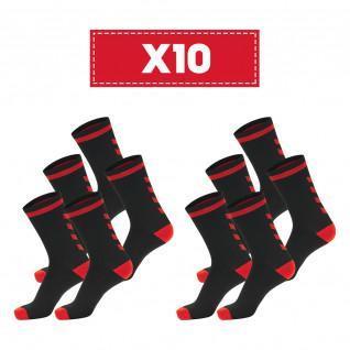 Paquete de 10 pares de calcetines oscuros Hummel Elite Indoor Low